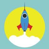 Raket i vektor Arkivfoton