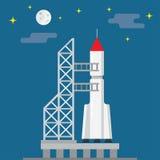 Raket klaar voor lancering royalty-vrije illustratie