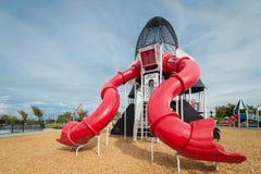 Raket och röd lekplats Royaltyfria Foton
