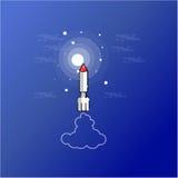 Raket på himmelöversiktsvektorn Royaltyfri Foto