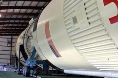 Raket parkerar i Lyndon B Johnson Space Center i Houston, Texas arkivbilder