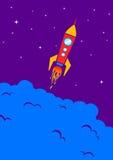 Raket in ruimte Stock Afbeelding