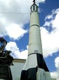 Raket som lauching i Houston Space Center arkivfoton