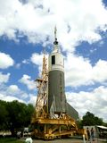 Raket som lauching i Houston Space Center royaltyfri bild