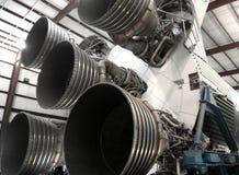 Raket som lauching i Houston Space Center royaltyfri foto