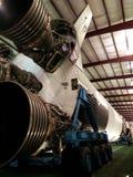 Raket som lauching i Houston Space Center arkivbild