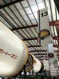 Raket som lauching i Houston Space Center royaltyfria bilder