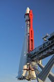 Raket vostok-1 stock afbeelding