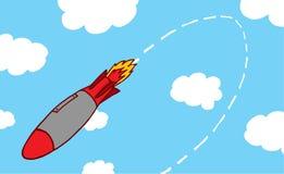 Rakete, die zu seiner Quelle zurückgeht Lizenzfreies Stockfoto