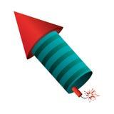 Raketenfeuerwerksfeuer-Lichtpyrotechnik Lizenzfreies Stockfoto