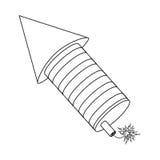 Raketenfeuerwerksfeuer-Lichtpyrotechnik Stockfotografie