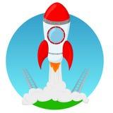 Raketenstart Stockbild