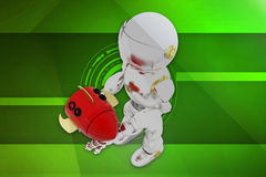 raketillustration för robot 3d Arkivbild