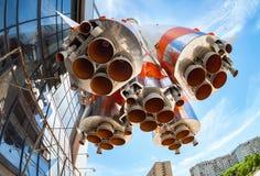 Raketmotor van Soyuz-type raket Soyuzhulpraket Stock Afbeeldingen
