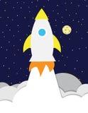 Raketschip en hemel Stock Afbeeldingen