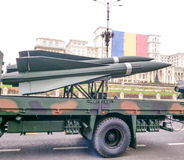 Rakettenvoertuigen bij nationale dag van parade de 1st december Royalty-vrije Stock Foto