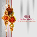 Rakhi background for Indian festival Raksha bandhan celebration Royalty Free Stock Photos