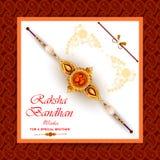 Rakhi background for Indian festival Raksha bandhan celebration. Easy to edit vector illustration of Rakhi background for Indian festival Raksha bandhan Stock Photo