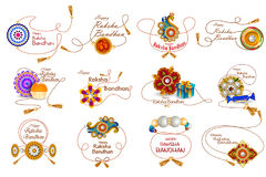 Rakhi background for Indian festival Raksha bandhan celebration. Easy to edit vector illustration of Rakhi background for Indian festival Raksha bandhan Royalty Free Stock Image