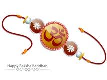 Rakhi creativo per la celebrazione di Raksha Bandhan illustrazione di stock