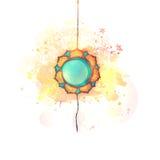 Rakhi creativo per la celebrazione di Raksha Bandhan illustrazione vettoriale