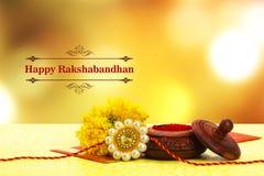 Rakhi de Raksha Bandhan imagen de archivo libre de regalías