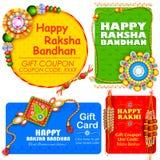 Rakhi decorativo para o fundo de Raksha Bandhan Imagens de Stock