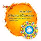 Rakhi decorativo para o fundo de Raksha Bandhan Imagem de Stock