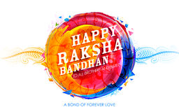 Rakhi decorativo para o fundo de Raksha Bandhan Foto de Stock