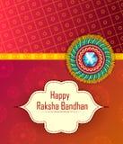 Rakhi elegante para la vinculación de Brother y de la hermana en el festival de Raksha Bandhan de la India stock de ilustración