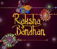 Rakhi elegante para la vinculación de Brother y de la hermana en el festival de Raksha Bandhan de la India ilustración del vector