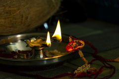 Rakhi-Festival. Raksha Bandhan is a Hindu festival that celebrates the love and duty between brothers and sisters; the festival is also popularly used to Royalty Free Stock Photos