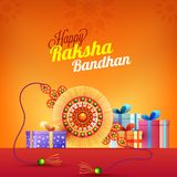 Rakhi, Indian brother and sister festival Raksha Bandhan concept.  Royalty Free Stock Photo