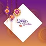 Rakhi, Indian brother and sister festival Raksha Bandhan concept.  Royalty Free Stock Photography
