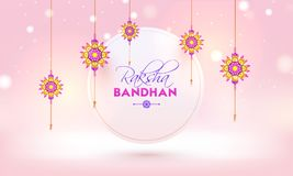 Rakhi, Indian brother and sister festival Raksha Bandhan concept.  Stock Photo