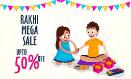 Rakhi Mega Sale Poster, bandera o aviador Libre Illustration