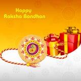 Rakhi mit Geschenk für Raksha Bandhan Stockfoto