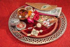 Rakhi o Rakshabandhan - festival tradicional indio foto de archivo