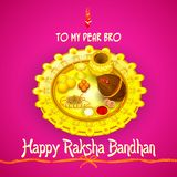 Rakhi pooja thali for Raksha Bandhan Stock Photo