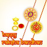 Rakhi pooja thali for Raksha Bandhan Royalty Free Stock Photos