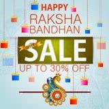 Rakhi Shopping Sale-achtergrond voor de Indische bandhan viering van festivalraksha stock illustratie