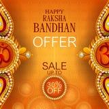 Rakhi Shopping Sale-achtergrond voor de Indische bandhan viering van festivalraksha royalty-vrije illustratie