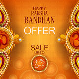 Rakhi Shopping Sale background for Indian festival Raksha bandhan celebration. Easy to edit vector illustration of Rakhi Shopping Sale background for Indian Stock Images