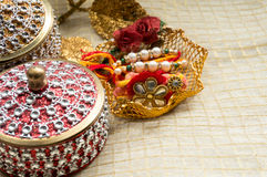 Rakhi threads with jewelled boxes Stock Photography