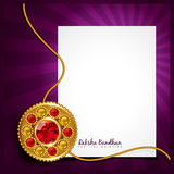 Rakhi vector background Royalty Free Stock Photography