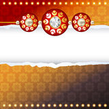 Rakhi vector background Stock Photo
