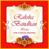 Rakhiachtergrond voor de Indische bandhan viering van festivalraksha stock illustratie