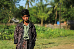 RAKHINE STATE, MYANMAR - NOVEMBER 05 : Hundreds of Muslim Rohingya are suffering severe malnutrition in overcrowded camps in Myanm. Ar's Rakhine state, on Royalty Free Stock Images