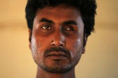 RAKHINE-TILLSTÅND, MYANMAR - NOVEMBER 05: Hundratals muslimska Rohingya lider sträng undernäring i överbefolkade läger i Myanm Arkivbilder
