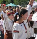 Rakhivs Hutsul Bryndza Festival Lizenzfreies Stockfoto